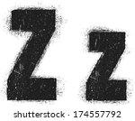 grunge letter  | Shutterstock .eps vector #174557792