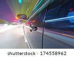 car on the road with motion... | Shutterstock . vector #174558962