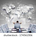 businesswoman boss in... | Shutterstock . vector #174561506