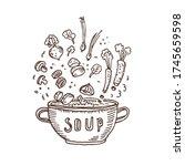 soup. vector illustration of...   Shutterstock .eps vector #1745659598