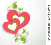 happy valentines day... | Shutterstock .eps vector #174571946