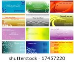 colorful horizontal business... | Shutterstock .eps vector #17457220