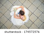wedding. young happy couple... | Shutterstock . vector #174572576