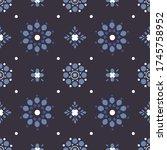 seamless abstract vector... | Shutterstock .eps vector #1745758952