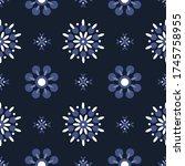 seamless abstract vector... | Shutterstock .eps vector #1745758955