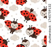 seamless pattern with cute... | Shutterstock .eps vector #1745759132