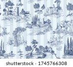 Pattern In Toile De Jouy Stile...
