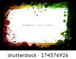 grunge frame. grunge background ... | Shutterstock . vector #174576926