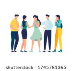 vector illustration  support... | Shutterstock .eps vector #1745781365