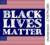 black lives matter calligraphic ...   Shutterstock .eps vector #1745791385