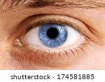 Close Up Of A Man Eyes  Macro