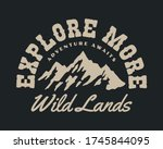 vintage outdoor mountain... | Shutterstock .eps vector #1745844095