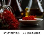 Dried Saffron Threads In A...