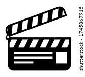 film clapper board symbol...