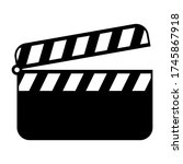film clapper board symbol...