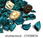 green potpourri on white...   Shutterstock . vector #17458876