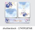 elegant flower and leaves...   Shutterstock .eps vector #1745918768