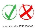 cross and tick symbols.... | Shutterstock .eps vector #1745936648
