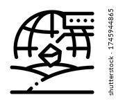 soil geography icon vector.... | Shutterstock .eps vector #1745944865