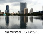 Office blocks in Orlando Florida - stock photo