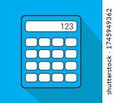 blue calculator liner fill icon ...