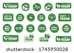 vegan icon set. bio  ecology ...   Shutterstock .eps vector #1745950028