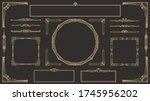 set of art deco gold...   Shutterstock .eps vector #1745956202