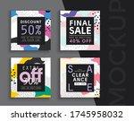 sale banner layout design. set... | Shutterstock .eps vector #1745958032