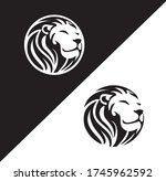 lion head  black and white ... | Shutterstock .eps vector #1745962592