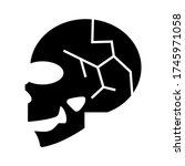 skull icon or logo isolated... | Shutterstock .eps vector #1745971058