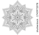 zentangle zen stress relief... | Shutterstock .eps vector #1745972078
