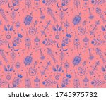 seamless pattern with tarot... | Shutterstock .eps vector #1745975732