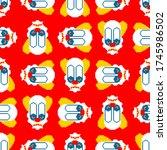 Scary Clown Pixel Art Pattern....