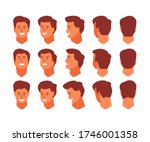 man head view from different... | Shutterstock .eps vector #1746001358