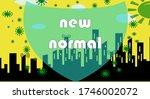 new normal protect corona virus | Shutterstock . vector #1746002072