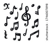 set of hand drawn music note... | Shutterstock .eps vector #1746007898