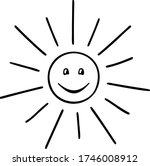 stylized cartoon sun with a... | Shutterstock .eps vector #1746008912