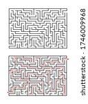 vector rectangular maze...   Shutterstock .eps vector #1746009968