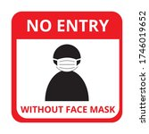 no entry without face mask... | Shutterstock .eps vector #1746019652