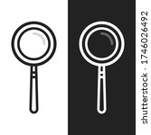 magnifying glass icon symbol...