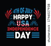 4th of july happy usa... | Shutterstock .eps vector #1746027938