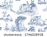 pattern with landscapes with...   Shutterstock .eps vector #1746028928