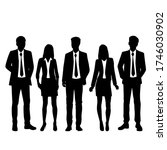 set of vector silhouettes of ... | Shutterstock .eps vector #1746030902