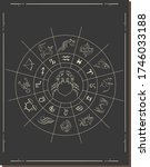 astrology horoscope circle with ... | Shutterstock .eps vector #1746033188