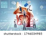 otolaryngology concept with...   Shutterstock . vector #1746034985