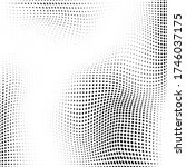abstract halftone black and... | Shutterstock .eps vector #1746037175