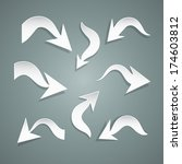 curved paper arrows set   also... | Shutterstock . vector #174603812
