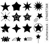 star line vector icons set.... | Shutterstock .eps vector #1746057368