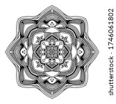 abstract mandala. hand drawing... | Shutterstock .eps vector #1746061802