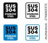 """sus 304 stainless steel"" hard... | Shutterstock .eps vector #1746065372"